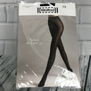 Wolford Velvet De Luxe 50 Tights Pantyhose Black